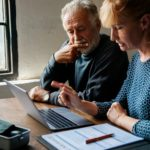 Elderly couple planning on life insurance plan